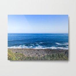 Beach, Portugal, Praia da foz Metal Print