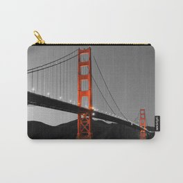 Golden Gate Bridge in Selective Black and White Carry-All Pouch
