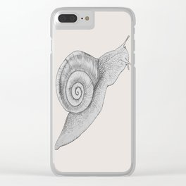 A Snail Of A Tale Clear iPhone Case