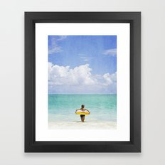 Little Lady and the Sea Framed Art Print