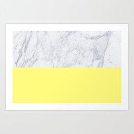 Lemon Marble Art Print