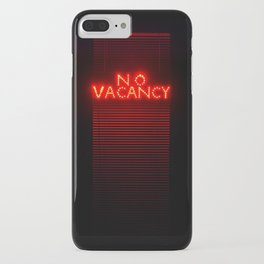 No Vacancy sign in red iPhone Case