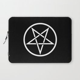 Satanic Pentagram (black 'n' white edit) Laptop Sleeve