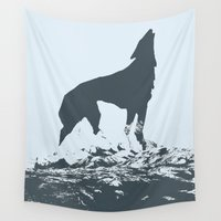 canada Wall Tapestries featuring Visit Canada by ahutchabove