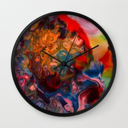 Colors merging Wall Clock