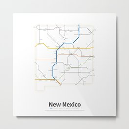 Highways of the USA – New Mexico Metal Print