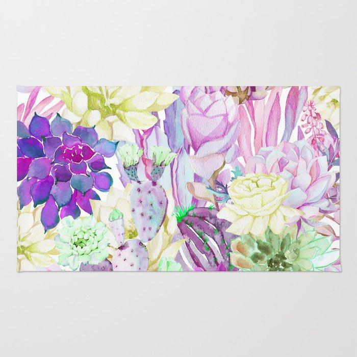 Lilac garden Rug
