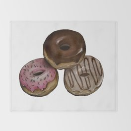 I Donut Care Throw Blanket