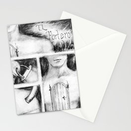 El Portero - Surreal Draw - Psychological Visual Story Stationery Cards