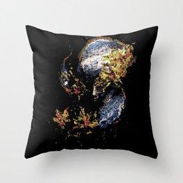 Venetian Mask Blue Devil Throw Pillow