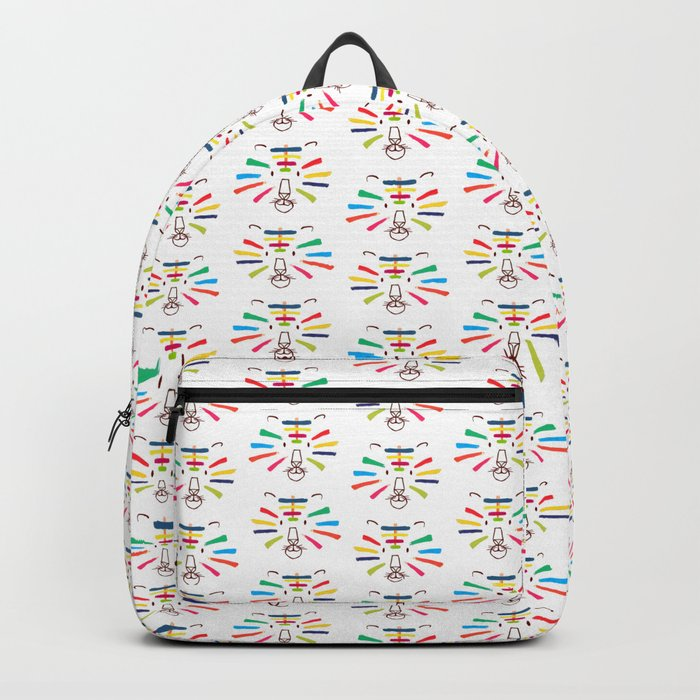 Tiger With Colorful Stripes Backpack