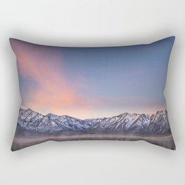 """Pretty in Pink"" -- an Eastern Sierra sunrise Rectangular Pillow"