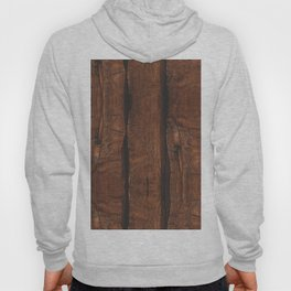 Rustic brown old wood Hoody