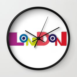 London 5 Wall Clock