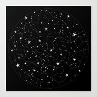 constellations Canvas Prints featuring Constellations by Rachel Buske