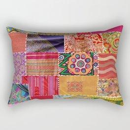 Boho Art | Sari Patchwork Quilt Rectangular Pillow