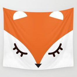 Fox minimal Wall Tapestry