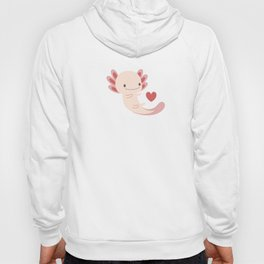 Axolotls, hearts and bubbles Hoody