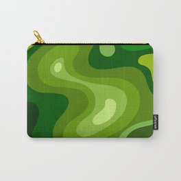 Multi Color Green Liquid Abstract Design Carry-All Pouch