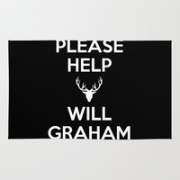 will graham Area & Throw Rugs featuring Please Help Will Graham by Paige Thulin