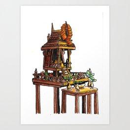 Bangkok : Spirit House Art Print