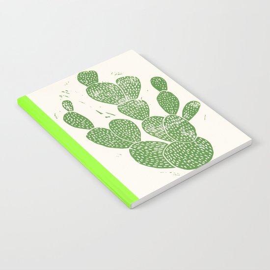 Linocut Cacti #1 Notebook