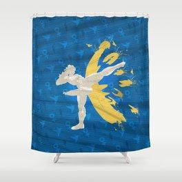 Kickin' It (An Homage To Chun-Li) Shower Curtain
