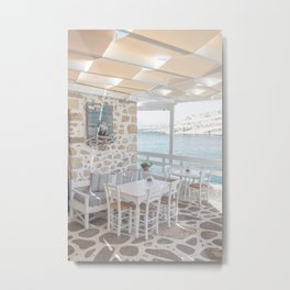 Summer In Greece Photo | Sea View Interior Design Crete Island Art Print | Europe Travel Photography Metal Print