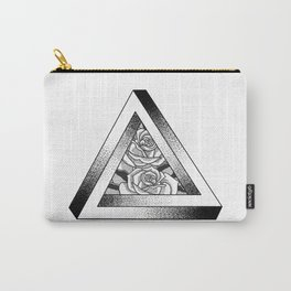 Pen-Rose Triangle Carry-All Pouch