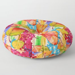 Watercolor flowers pattern No1 Floor Pillow