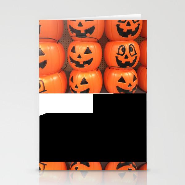 Pumpkin Pails Stationery Cards by Blackbatstudio CRD8584929