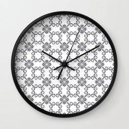 Grey Swirl Pattern Wall Clock