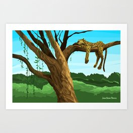 Leopard - Day Art Print