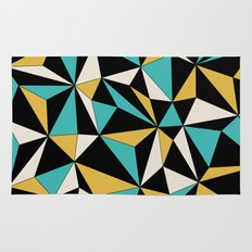Geo - blue, orange, black and white. Rug
