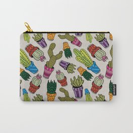 Cactus & Succulent Pattern Carry-All Pouch