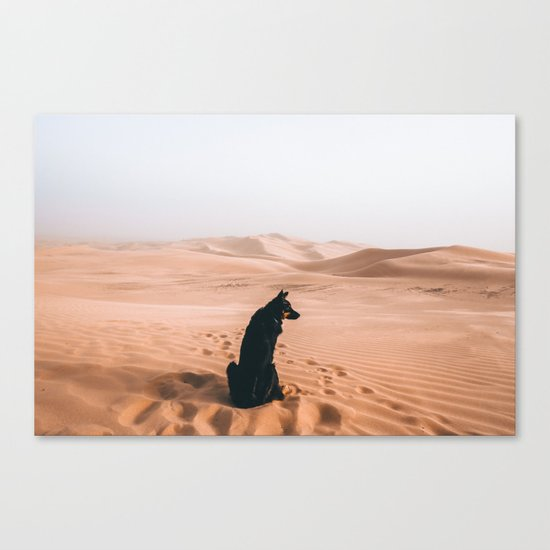 Find your way back home | Imperial Sand Dunes, California Canvas Print