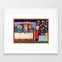 federico babina Framed Art Prints featuring L'Epoca di Federico II - Il banchetto by Francesca Cosanti