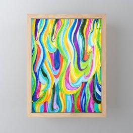 Rainbow Hair Framed Mini Art Print