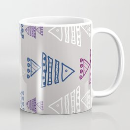 Fish ornament on light grey background Coffee Mug