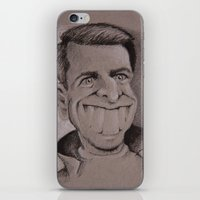 tom selleck iPhone & iPod Skins featuring Tom by chadizms