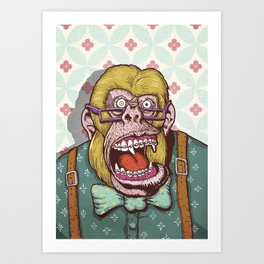 Gorilla Boss Art Print