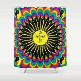 Psychedelic Hippie Trippy Summer Festival Shower Curtain