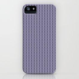 Black and Lavender Skulls iPhone Case