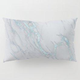 Marble Love Sea Blue Metallic Pillow Sham