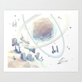 Space Colony Art Print