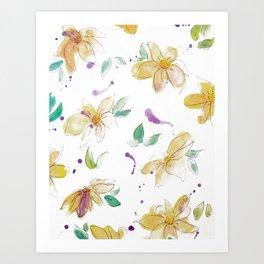 blazz studios: Spring Flowers Art Print