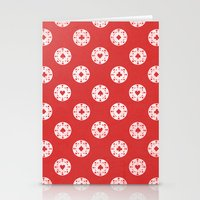 poker Stationery Cards featuring Poker Dots by Leo Canham