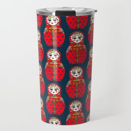 Russian doll pattern Travel Mug