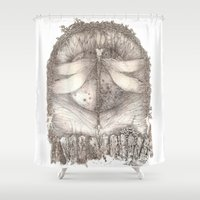 key Shower Curtains featuring KEY by REALM ILIFF