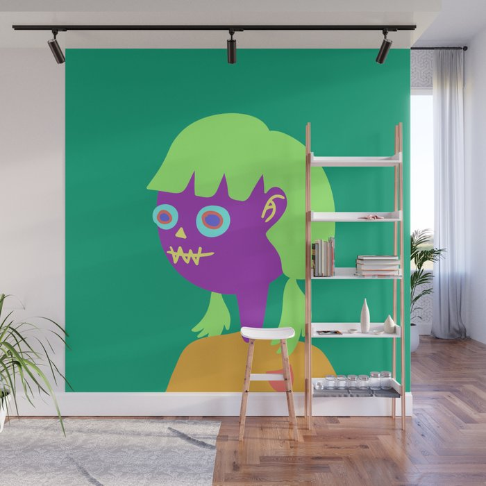 teenage zombie girl Wall Mural